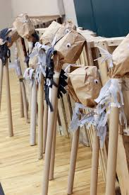 brown paper bag ponies from a western themed cub scout blue gold banquet via kara s