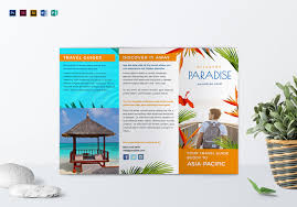 Travel Brochure Cover Design 40 Best Travel And Tourist Brochure Design Templates 2019