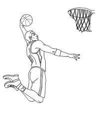 NBA Player Slam Dunk Coloring Page nba player slam dunk coloring page color luna on pixel player template