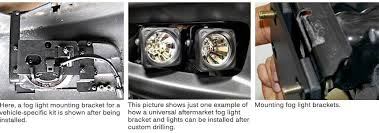 spyder fog lights installation and adjustment mounting universal fog light brackets directly to a metal section of your vehicle a fog light kit