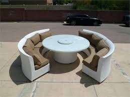 round patio table set outdoor dining table fire pit