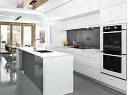 White Gloss Kitchen Cabinets Pleasing  High Cabinet36
