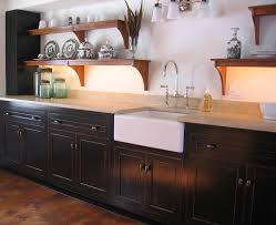 kitchens with black distressed cabinets. Laminate Countertops Black Distressed Kitchen Cabinets Lighting Flooring Sink Faucet Island Backsplash Herringbone Tile Granite Pine Wood Red Raised Door Kitchens With C