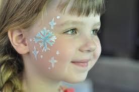 face paint elsa snowflakes suburble com 1