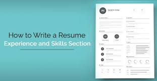 How To Write A Resume Experience How to Write a Resume Skills and Experience Section WiseStep 25