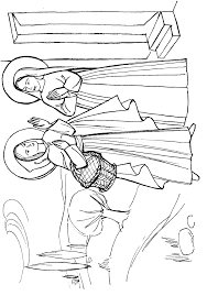 The Visitation Coloring Page - Coloring Home