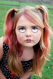 2016 frightful sch rag doll face makeup for party ideas