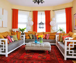 15 Lively And Colorful Curtain Ideas For The Living Room  RilaneRed Curtain Ideas For Living Room