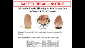 Recall On Himalayan Salt Lamp Amazing RECALL ALERT Thousands Of Salt Lamps Are Shock Fire Hazard Wgrz