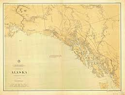 Southeast Alaska Chart Amazon Com Vintography 18 X 24 Canvas 1898 Us Old Nautical
