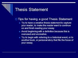 how to write your topic sentences and your thesis statement  9 thesis statement  tips