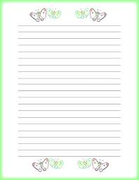 Free Writing Paper Template Lined Writing Paper Template Butterflies