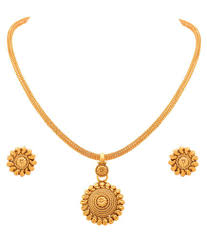 jfl traditional ethnic gold plated designer pendant set jfl traditional ethnic gold plated designer pendant set in india on snapdeal