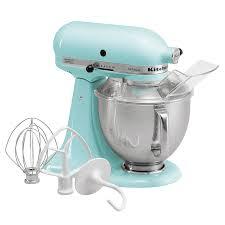 kitchenaid artisan series 5 quart stand mixer ice blue ksm150psic