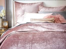 velvet duvet shams by west elm in dusty blush also available in stone platinum and berry full queen and king sizes duvet starts velvet quilt cover