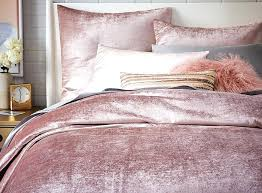 velvet duvet shams by west elm in dusty blush also available in stone platinum and berry full queen and king sizes duvet starts velvet quilt cover
