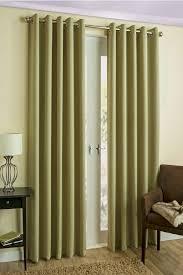 byron ready made blockout eyelet curtains green