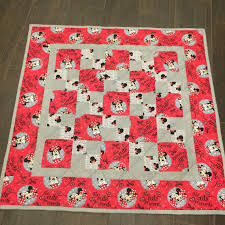 MINNIE MOUSE Baby Quilt Modern Disney Quilt 37 x 37 & Like this item? Adamdwight.com