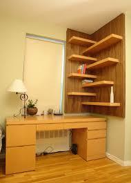 Artistic Corner Shelves trend New York Modern Home Office Decoration ideas  with corner shelves corner shelving