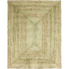house and home solid jute rug brown