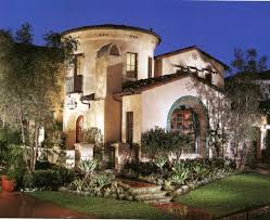 Home Design: Astounding Spanish Style Home Design With Exciting Outdoor  Lights - Spanish Style Manufactured