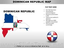 Country Powerpoint Maps Dominican Republic Powerpoint Diagram