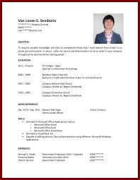 Sample Resume For College Student With No Experience Sample Resume  regarding College Student Resume No Experience