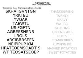Daily Messes Thanksgiving Word Scramble
