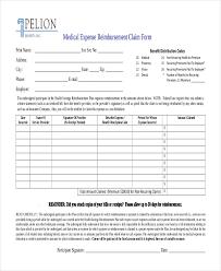 expense reimbursement form doc sample medical reimbursement form 10 free documents in pdf