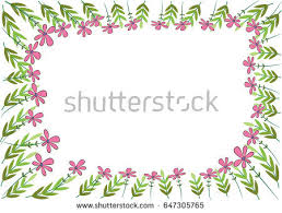 Small Picture Vector Garden Border Stock Vector 647305765 Shutterstock