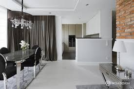 best jadalnia w stylu glamour poczona z kuchni with styl modern glamour