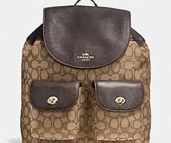 Coach F54795 Billie Signature Khaki Backpack