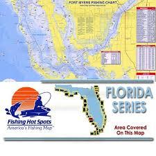 Pine Island Sound Chart Fl0113 Fishing Hot Spots Fort Myers Estero Bay To Pine Island Sound