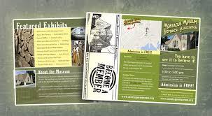 tri fold windows montague museum tri fold brochure bentzdesign studios