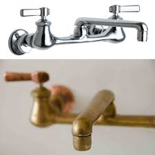 antique brass faucet. Comparison Of Chrome Faucet And Antiqued Brass In The Same Style Antique
