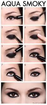 aqua smoky eye shadow makeup tutorial