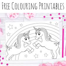 Free Unicorn Colouring Sheets Doodle And Stitch