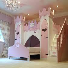image of princess loft bed with slide furnitures