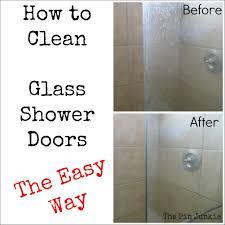 Glass Door Hard Water Stains On Glass Shower Doors Best Cheap Remove Glass Shower Door To Clean