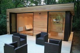 prefab garden office. In.It.Studios\u0027 Prefab Garden House Is A Modern Small Space Tuc-like The Color Contrast Birch Wood \u0026 Black Office