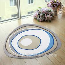 polyester digital printed irregular shaped area rug