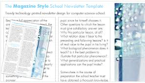 School Newsletter Template For Word Worddraw Com Magazine Template For Microsoft Word