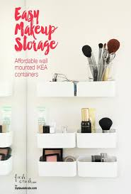 easy makeup storage with a simple and affordable wall mounted conner simplify your