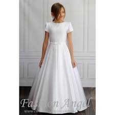 Simple Elegant Simple Elegant Handmade First Holy Communion Dress Style Demi