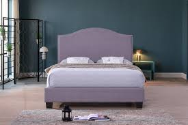 purple platform bed.  Bed ViscoLogic Series EMPIRE Luxury Linen Fabric Upholstered Platform Bed  TwinSingle Purple Grey And E
