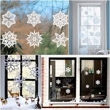 goodly christmas snowflakes patterns for door and window