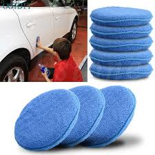 <b>5 Pcs Microfiber Foam Sponge</b> Polish Wax Applicator Pad Mat For ...