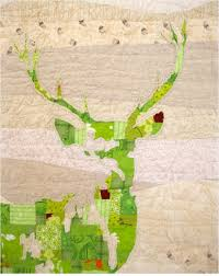 Green Stag quilt to honor deer widows – Quilting & Saw Daniel Rouse's art quilt and thought of all the spouses left behind  this weekend since Modern Gun Deer season started today. Adamdwight.com