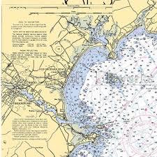 Maine Saco Biddeford Old Orchard Beach Ocean Park Nautical Chart Decor