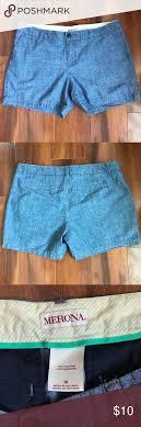 Merona Chambray Shorts Size 10 Merona Chambray Short 4